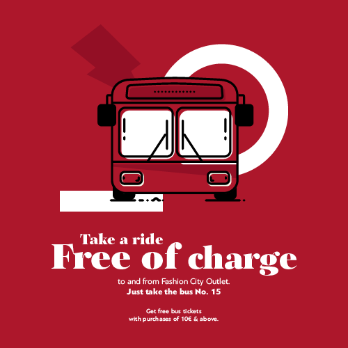 RIDE FREE OF CHARGE WITH BUS No.15